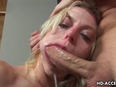 Blond bitch Angela Stone hardcore sex with thin lengthy shlong!