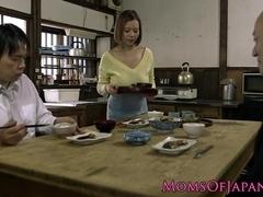 Busty japanese Ruri Saijou titfucking in tub