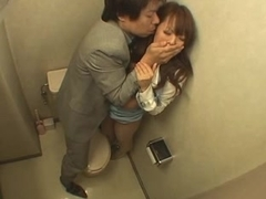 Japanese Woman Fucked in the Bathroom