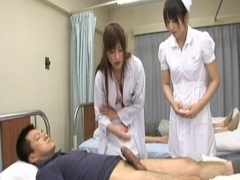 Rika Nagasawa and Mao Sakurai Naughty Asian nurses make creampie clinic