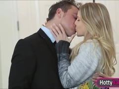 Gorgeous Staci Carr fucked and jizzed on by huge man meat