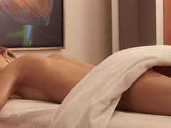 PARADISE FILMS Natural Russian Teen gets full massage