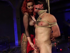 The Maitresse Milks Virgin Prostate and Punishes Dripping Cock!
