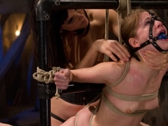 Amazing lesbian, fetish porn scene with incredible pornstars Bobbi Starr and Sensi Pearl from Whip.