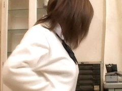 Asian slut in mini skirt is consulted by her gynecologist