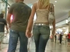 Hot babes with nice butts caught on candid street voyeur cam