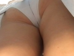 Now that is a great ass in white panties and white skirt