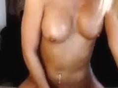 Naughty Blonde Masturbating On Cam