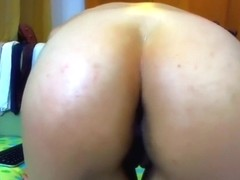 I made a hot brunette amateur video clip on webcam