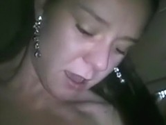 Girl warms herself up and fucks her bf with condom pov