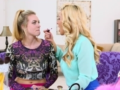 Stepmom Cosima Knight teaching stepdaughter Sasha Sean