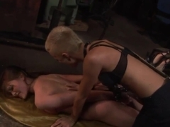Hot girl with sexy shaped body Rebecca Contreras got her hands and legs tied up by BDSM fuck fun chick Sinead.