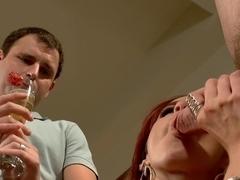 Suck my feet cuck husband while this stud fucks me!