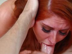 Exotic pornstars Rose Red, Mark Wood in Incredible Deep Throat, Blowjob adult scene