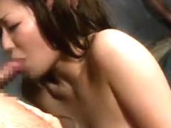 Fabulous Japanese chick Anje Hoshi, Rino Kamiya in Incredible Facial, Swallow/Gokkun JAV video