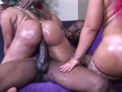 Best pornstar in crazy facial, black and ebony sex clip
