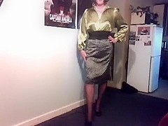 Monique Naughty Satin Schoolteacher