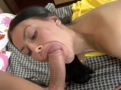 Petite brunette Hanna gets her tight ass fucked