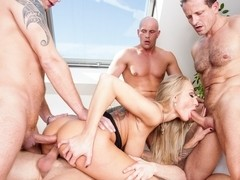 Kayla Green, George Uhl, Kristof Cale in 4 On 1 Gang Bangs #03, Scene #01