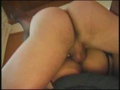 Perverted midget in stockings screwed properly