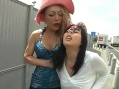 Outdoor Lesbian Domination (Censored)