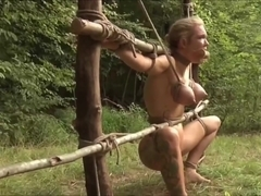 Slave in woods