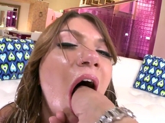Cassandra Nix fucked in ass after deepthroat