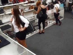 Big butt amateur nailed at the pawnshop to earn extra money