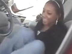 ebony soles in car