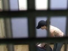 Locker-room voyeur clip