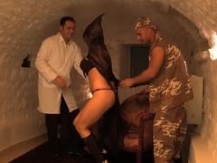 Crazy pornstar Aletta Ocean in horny dp, threesome adult scene
