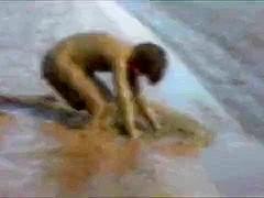 Naked mud wallow