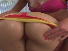 Two Latina bitches Naomi and Sabara enjoy anal-licking