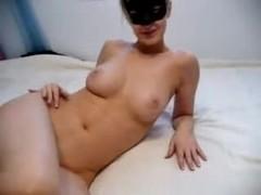 Hot blonde in masturbation porn