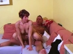 Lazy afternoon sex with the wife on the sofa