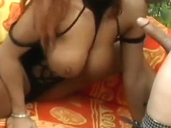 Big breasted Mercedes Ashley gets her wet pussy drilled hard outside