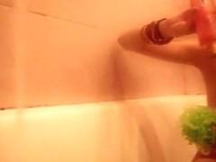 Cute barely law honey taking a baths