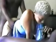 Black girl slut gets spitroasted by her bf and his best friend