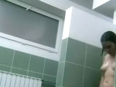 Spying on extremely immoral chicks in the shower room