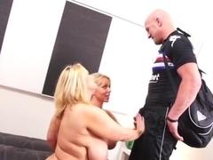 Incredible pornstars Samantha 38G and Karen Fisher in exotic big ass, facial porn movie