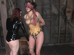 Fabulous fetish porn video with amazing pornstars Princess Donna Dolore and Claire Adams from Wire.