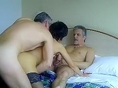 French mature loves trios with hubby and  friend
