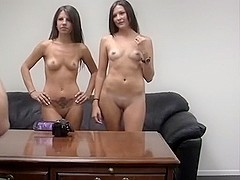 2 non-professional legal age teenagers porn casting ottoman