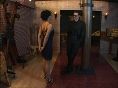 Black haired slut gets a hard sexual punishment