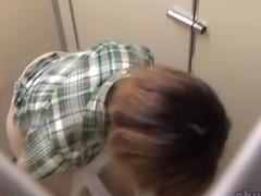 Sperm sharking video of marvelous petite whore receiving money shot