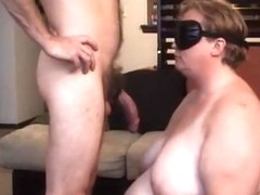 amateur submissive deepthroats master on her knees