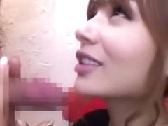 Horny Japanese model in Amazing Facial, MILFs JAV clip