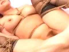 Fabulous Japanese whore Yuuka Matsushita in Hottest Stockings/Pansuto, BDSM JAV clip