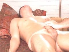 Bisexual Adrian involuntary responds to prostate stimul
