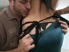 Aletta Ocean nailed in doggie after sucking